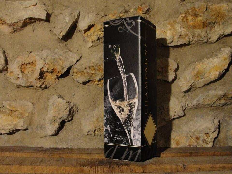Anthracite single bottle gift box