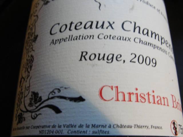 Coteau Champenois front label