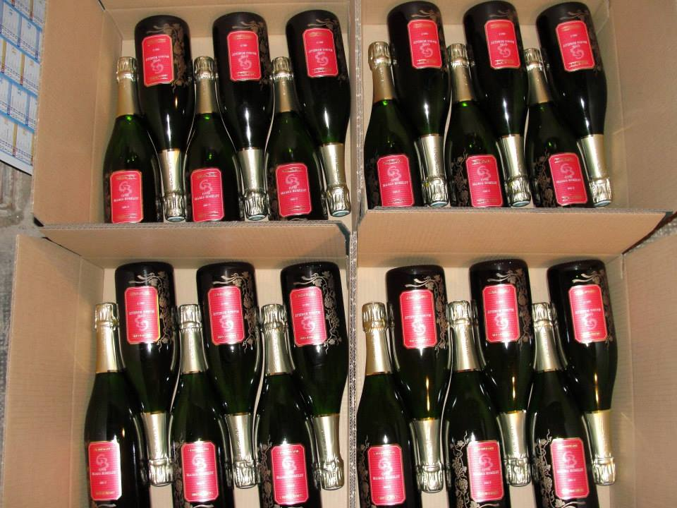 Cuvée Maurice Romelot in boxes