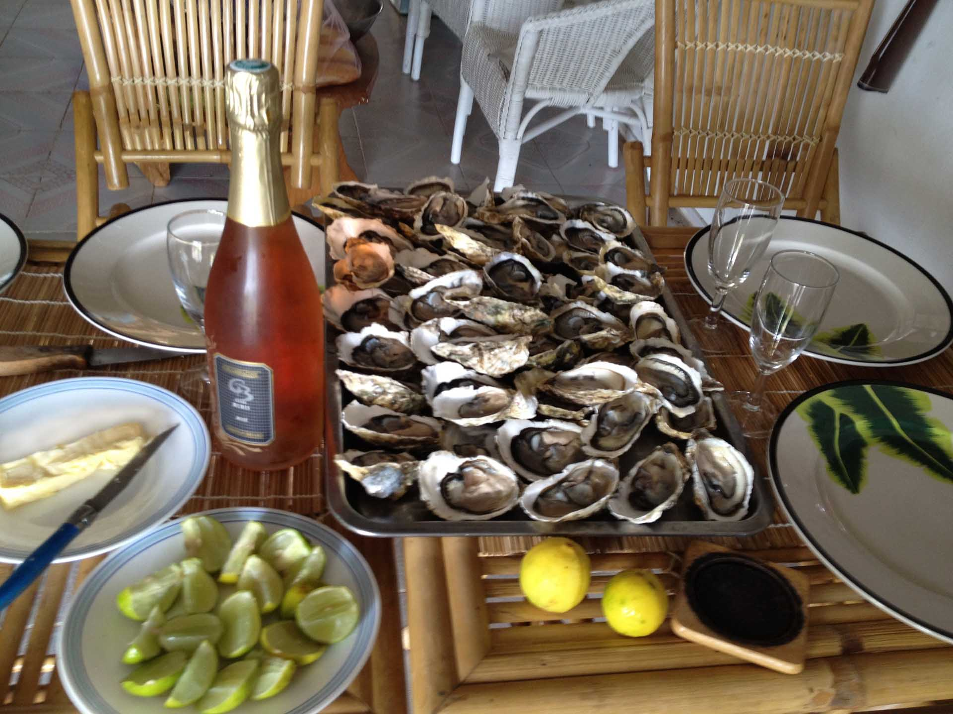 Rosé Rubis and Oysters